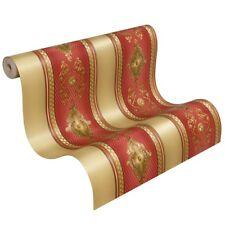 Tapete Satin Streifen Barock Gestreift Hermitage Glanz Metallic rot 6830-14 (3,5