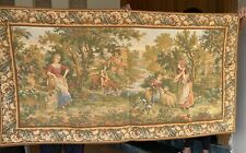 Antique French Aubusson Style Wall Hanging Tapestry - 105 X 160 Cm
