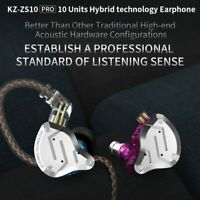 KZ ZS10 Pro 4BA+1DD 5 Driver in-Ear HiFi Metal Earphones with Detachable Cable