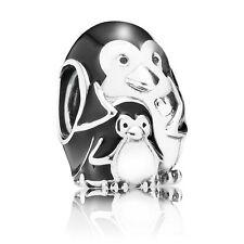 New Authentic Pandora Charm Penguin Family 791404EN60 Bead Box Included