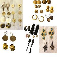 Lot of 21 Pairs Vintage and Runway Earrings