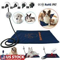Pet Waterproof Automatic Electric Heating Pad Warmer Mat Bed Winter Dog Cat US
