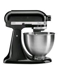 15'aq     KitchenAid Onyx Black Classic Stand Mixer 5K45SSBOB 4.3L