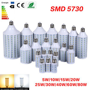 5730SMD E27 LED Corn Bulb Lamp Light Energy Saving Spotlight 10W-80W 110V 220V