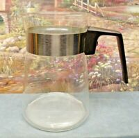 VINTAGE 2- 4 CUP PYREX  CORNING GLASS  COFFEE TEA STOVETOP CARAFE POT NO LID