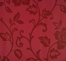 Red on Red Floral Damask Wallpaper  Sold & Priced per Double Roll    VG26254