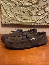 Men's UGG Australia Size 10 Brown Leather Fur Slippers