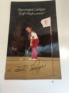 Vintage Photograph Golf Professional Bernard Langer Y571