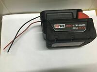 DIY  Milwaukee  M18 XC battery adapter to dock power connector 12-14 AWG