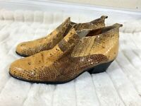 Giorgio Brutini Brown Original SNAKE SKIN Ankle Boots Mens Sz 8 M Style 150649