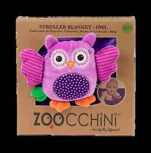 Beautiful Zoocchini Buddy Blanket - Owl | Owl Blanket for Prams and Pushchairs