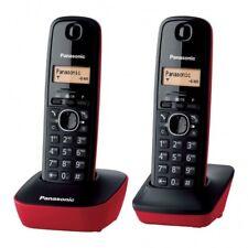 Telefono Fijo Panasonic KX-TG1612 Rojo Original Usado