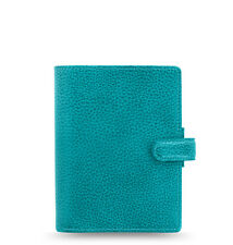 Filofax Pocket Finsbury Leather Organizer/Planner Aqua - 025445 - Brand New
