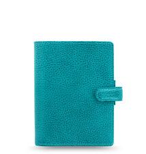 Filofax Pocket Finsbury Leather Organizer/Planner Aqua - 025445 - Brand New