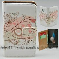 For Huawei Series - Retro Floral Theme Print Wallet Mobile Phone Case Cover