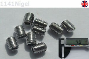 M3 x 4mm Stainless Steel Metric Thread Grub Screw Concave Flat Hexagon