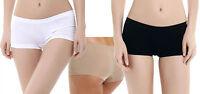 SHORTY BOXER SLIP FEMME MICROFIBRE TOP SEXY INVISIBLE NOIR BLANC BEIGE S/M L/XL