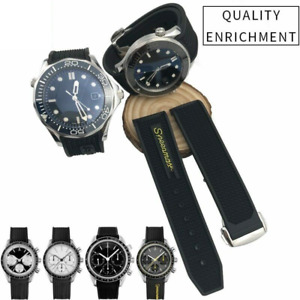 Band Rubber Strap For Omega Seamaster 300 Speedmaster Watch 20mm 21mm 22mm