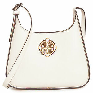 Tory Burch Women's Miller Small Hobo, New Ivory, Off White, One Size