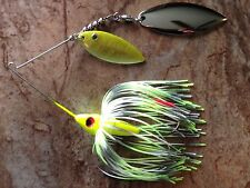 HC HIDDEN WEIGHT SPINNERBAIT- 1/2 OZ. -CHARTREUSE SHAD - PAINTED DOUBLE WILLOW