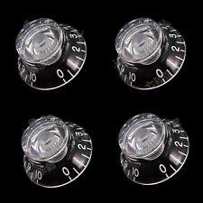 4Pcs Transparent Guitar Bass Top Hat Speed Knobs Tone volume Button for Les Paul