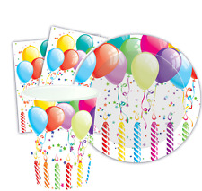 Unbranded Birthday Party Napkins, Plates