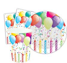 36 Pièce fête d'anniversaire table usure Gobelets ASSIETTES SERVIETTES