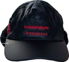 Chapeaux bérets noirs en cuir pour homme