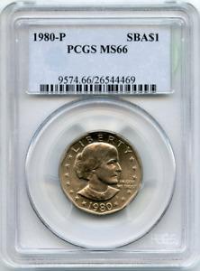 :1980-P $1 Susan B. Anthony Dollar Near-Superb PCGS MS66 Low-Pop Highest-Grades