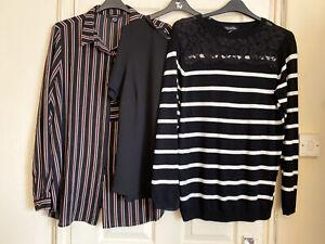 Black/White Mixed Blouse/jumper/Top Bundle Size 20-(B)