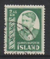 Iceland - 1954, 2k45 Hafstein stamp - G/U - SG 326 (c)