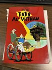 TINTIN Au Vietnam Herge Plaque Lacquer Wall Hanging Art Red Comic
