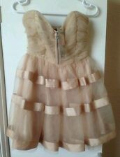 LIPSY by Pixie Lott golden peach wedding prom evening party dressSize8BNWTrrp£70