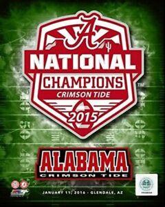 "Alabama Crimson Tide 2015 Football National Champions Photo (Size: 8"" x 10"")"