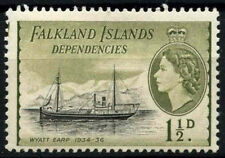 Falkland Islands Dep. 1954-62 SG#G28, 1.5d QEII Definitive Ship MH #D51913