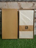 Thomas Ferguson Set of 4 Irish Linen Napkins  Natural Damask 46 x 46 cm BNIB.