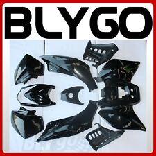BLACK Plastics Fairing Fender Guards Cover Kit 125cc TIGER Quad Dirt Bike ATV