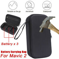 For DJI Mavic 2 Pro/Zoom Compact 3 Batteries Storage Bag Carrying Case Accessory
