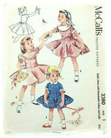 "McCall's Vintage 1950s Bust 20"" Girls Dress Children's Sewing Pattern Size 1"