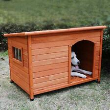Wood Dog Houses Outdoor Insulated, Weatherproof Dog Houses Outside with Door Cu
