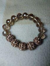 "Bead and Metal beaded elasticated bracelet - (9"" or 23cm long)"