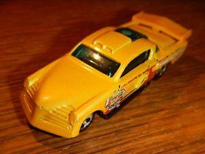 1998 Hot Wheels AT-A-TUDE Yellow Die Cast Car