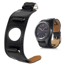 Genuine Leather Wrist Band Strap 22mm For Samsung Gear S3 Galaxy Watch 46mm NEW