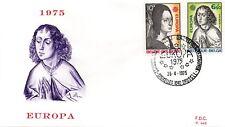 BELGIUM 1975 - FDC- EUROPA CEPT FAMOUS ART