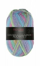 Alicante 7 4-fach Pro Lana Sockenwolle türkis pink Strumpfwolle