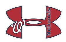 Under Armour Washington Nationals Baseball Truck/Window Decal Sticker 11.5 x7""