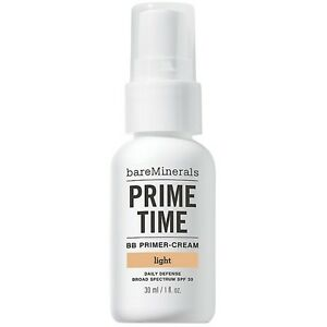BareMinerals Prime Time BB Primer-Cream Daily Defense Spf 30 LIGHT 1 oz 30 ML