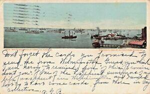 HAMPTON ROADS VA~WHITE SQUADRON-SQUADRON OF EVOLUTION~1906 MILITARY POSTCARD