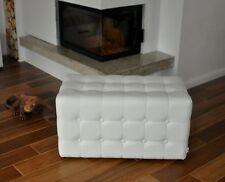 Sitzwürfel Sitzhocker Sitzbank Fußhocker Leder modernes Design Neu Weiß