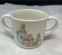 1991 Wedgwood Peter Rabbit 2 Handle Childs Cup Beatrix Potter Flopsy Mopsy